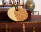 Oak and Aspen Half Moon Pendant
