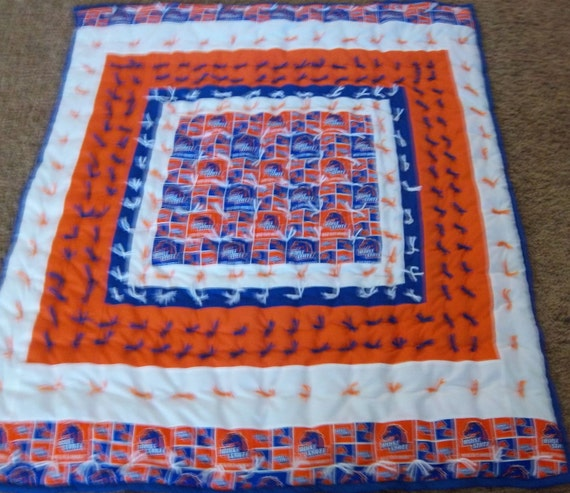 Boise State University Baby Quilt Ready to Ship