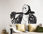 Jason Voorhees of Friday the 13th Vinyl Wall Art Decal  WD-0390