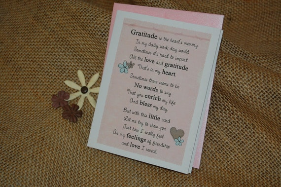 Greeting Card - Friendship Thank You