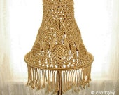 Macrame Lamp Shade for table or floor lamp