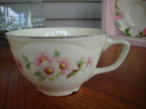 Homer Laughlin VIRGINIA ROSE cup in Moss Rose Pattern SWEET