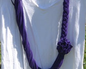 Purple Infinity Braided T Shirt Scarf