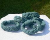 Dusty Blue Braided T Shirt Bracelet