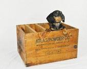 Crate Box Large Wooden Vintage Antique Atlas Explosives