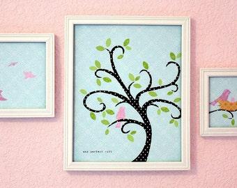 Nursery Art Prints-James 1:17 Bird Series - Girl