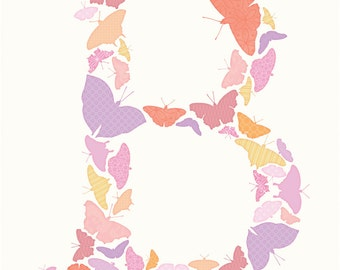 Custom Monogram Print: Butterflies