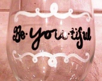 Inspirational Wine Glass