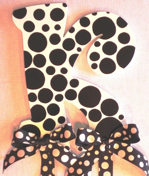 Black Polka Dot Hairbow Holder