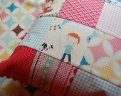 Fly A Kite Pillow Cover - Pillow Cover - Patchwork Pillow Cover -  Riley Blake - 14 inch