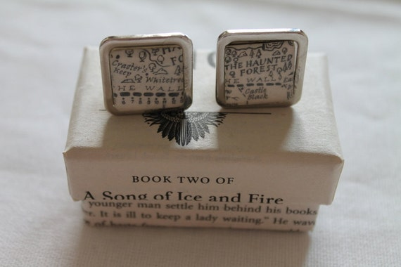 Game of Thrones// Night's Watch//The Wall and Castle Black//Literature Cufflinks