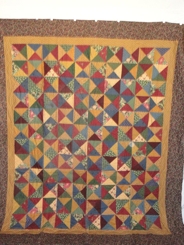 Scrappy patchwork sablier double quilt l 39 aide de tissus - Quilts gele ...