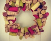 Colored Wine Cork Wreath for any door Real Wine Corks