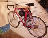 Maple Bike Rack with Upcycled Spoke Gear Hooks. Free Shipping.