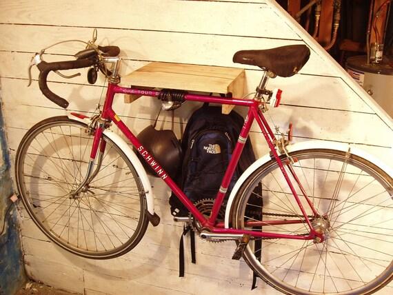 Myrtle Bike Rack with Reclaimed Spoke Gear Hooks. Free Shipping.