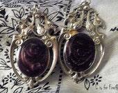 Black Velvet - gothic style earrings