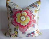 Beautiful 20X20 BOTH SIDES Decorative Pillow Cover Braemore Home Decor Fabric-Floral-Throw Pillow-Accent Pillow-Living Room Pillow