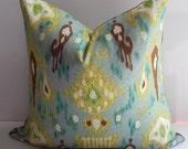 Ikat 20X20 Pillow Cover Robert Allen Designer Home Decor Fabric-Throw Pillow-Accent Pillow-Living Room Pillow-Toss Pillow