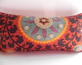 Suzani 10X20 Tribal Lumbar Pillow Cover Toss Pillow Throw Pillow Living Room Pillow