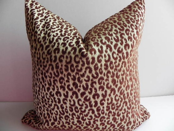 Velvet Animal Print Pillows : Velvet Leopard Print 20X20 Pillow Cover Decorative by PillowChix