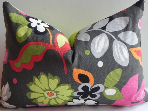 Floral Decorative 14X20 Pillow Cover Home Decor Fabric Throw Pillow-Accent Pillow-Living Room Pillow-Lumbar Pillow