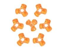 480 Orange Tri-Shaped Beads