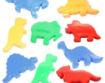 50 Dinosaur Beads - Assorted Styles and Colors
