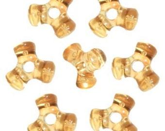 1,000 Acid Yellow Tri-Shaped Beads