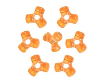 480 Orange Tri-Shaped Beads