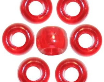 720 Red Transparent Pony Beads
