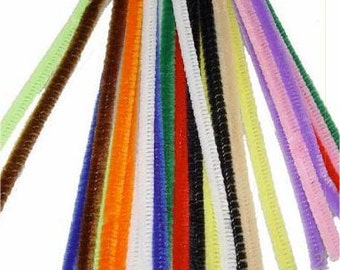 "100 Multi-Color Chenille Stems (12"" x 6mm)"