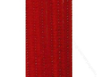 "100 Red Chenille Stems (12"" x 6mm)"