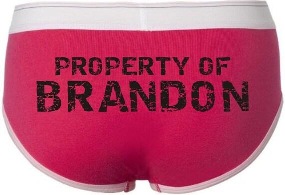 Womens Brief Custom Personalized Property Of Boyfriend Brief