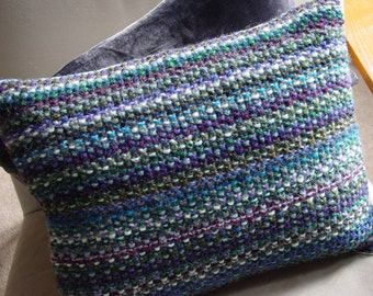 Cushion, Throw Pillow, Knitted Cushion, UK Seller, Hand Knitted, Pure Wool, Multi Colours