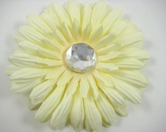 Cream Flower Clip -  Flower Hair Clip