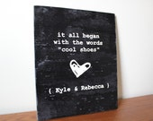 First Words: Personalized Wedding Anniversary Sign Gift
