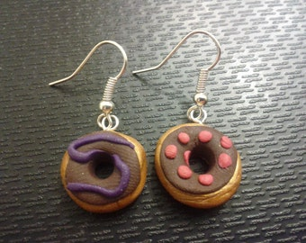 Polymer Clay Donut Earrings