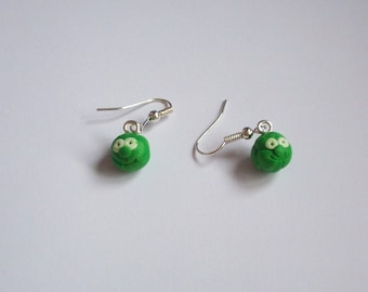 Polymer Clay Sprout Earrings
