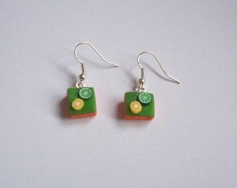 Polymer Clay Lemon & Lime Slice Earrings