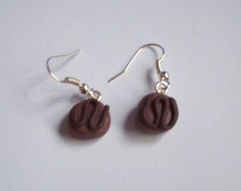 Polymer Clay Chocolate Earrings