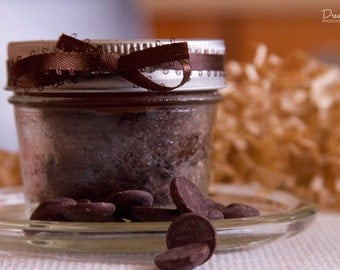 Dark Chocolate Galaxy Cake - Bittersweet Chocolate Cake with Dark Chocolate Fudge Frosting - Four (4) 4oz Jar Cake