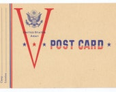WWII V Mail Postcard United States Army Free Mail for Soldier in World War 2  MINT 1943 Rare Postal Card