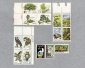 US Postage Stamps Unused, Owls, Trees and Habitats for 5 letters