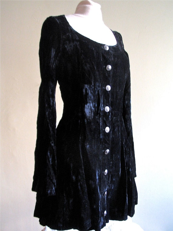 Vintage Anna Sui Black Dress 1980's Betsey Johnson Dress Black