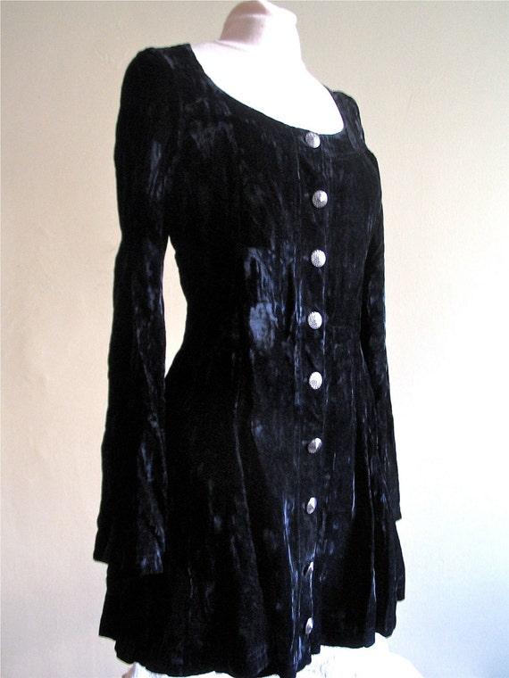 Vintage Anna Sui Black Dress 1980's Betsey Johnson Dress Black