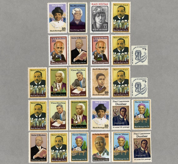 US Postage Stamps, Black Heritage and MLK for 10 letters, Unused