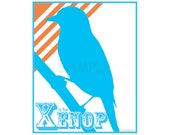 X is for Xenop - Print - Alphabet Art Poster 8x10 - Nursery Decoration - Kids Room - ABC Letters
