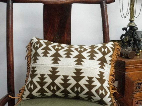 Blanket Wool Pillow Pendleton Native American Throw Pillow