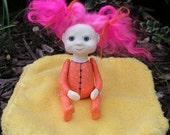 OOAK Art Doll- Paper Clay Sculpture
