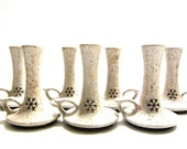 Set of 8 Vintage Onion River Pottery Candle Holders